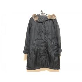 【中古】 ボッシュ BOSCH ダウンコート サイズ38 M レディース 黒 ライトブラウン ファー/冬物