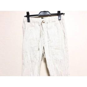 【中古】 セオリー theory パンツ サイズ0 XS レディース 白 ブルー 黒 ストライプ