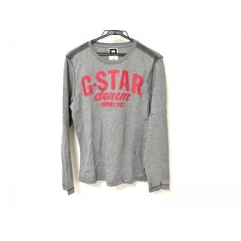 【中古】 ジースターロゥ G-STAR RAW 長袖カットソー レディース 美品 グレー レッド