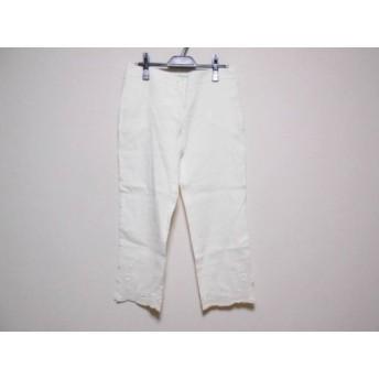 【中古】 ブルマリン BLUMARINE パンツ サイズ42 M レディース アイボリー