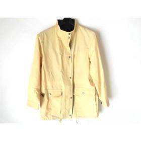 【中古】 バーバリーロンドン コート サイズ40 L レディース イエロー ネイビー 春・秋物
