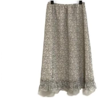 【中古】 ミッシェルクラン MICHELKLEIN スカート サイズ36 S レディース アイボリー グレー