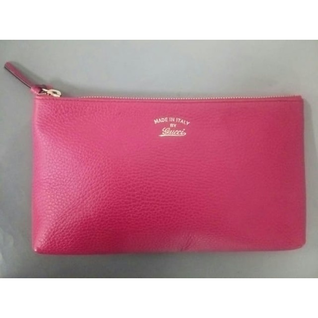 5547c6d42e36 中古】 グッチ GUCCI ポーチ 美品 - 368881 ピンク レザー 通販 LINE ...