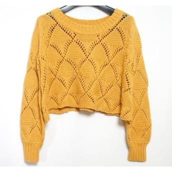 【中古】 オープニングセレモニー 長袖セーター サイズM レディース オレンジ ショート丈