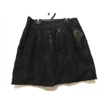 【中古】 アドーア ADORE ミニスカート サイズ38 M レディース 黒 ラメ