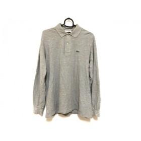 【中古】 ラコステ Lacoste 長袖ポロシャツ サイズ4 XL メンズ ライトグレー