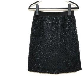 【中古】 ジャスグリッティー JUSGLITTY スカート サイズ1 S レディース 黒 スパンコール