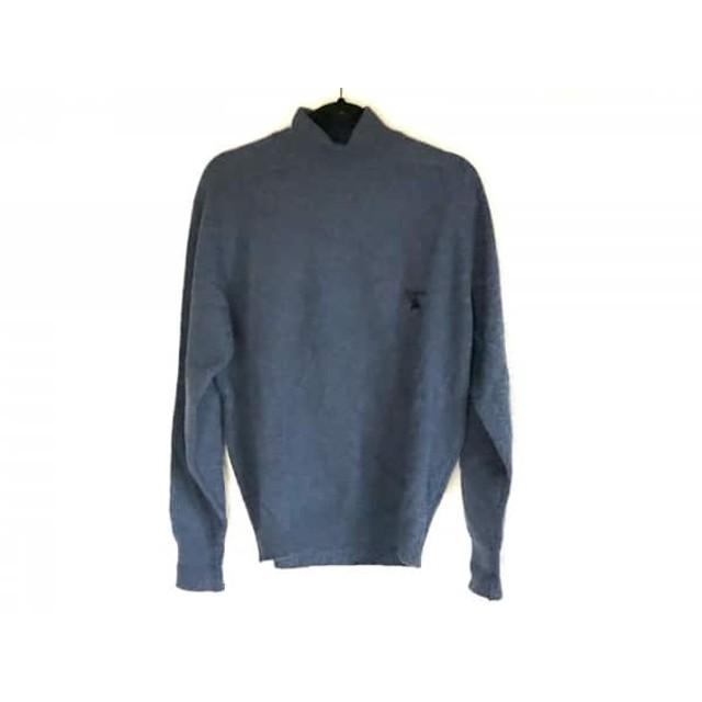 【中古】 バーバリーズ Burberry's 長袖セーター メンズ ネイビー ハイネック