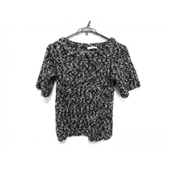 【中古】 シーバイクロエ SEE BY CHLOE 半袖セーター レディース ダークグレー 白 黒