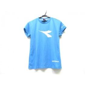 【中古】 ディアドラ DIADORA 半袖Tシャツ サイズO ユニセックス ライトブルー ホワイト