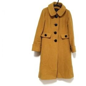 【中古】 ジャスグリッティー JUSGLITTY コート サイズ2 M レディース ブラウン 冬物 毛ナイロン