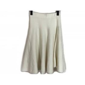 【中古】 アプワイザーリッシェ Apuweiser-riche スカート サイズ1 S レディース アイボリー ニット