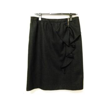 【中古】 ローズティアラ Rose Tiara スカート サイズ42 L レディース 黒 フリル