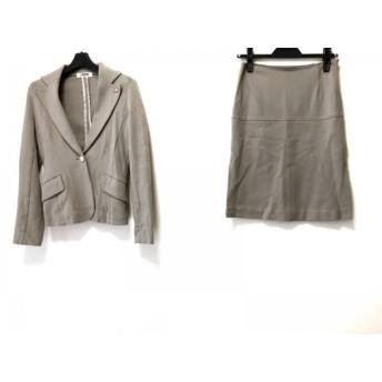 【中古】 モルガン MORGAN DE TOI スカートスーツ サイズ36 S レディース ブラウン