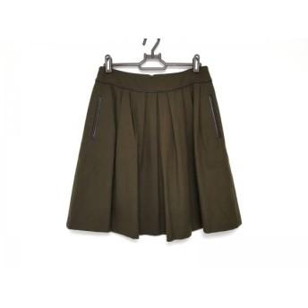 【中古】 トゥモローランド TOMORROWLAND スカート サイズ38 M レディース 美品 カーキ ダークブラウン