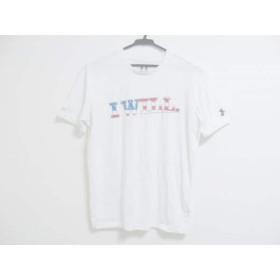 【中古】 アンダーアーマー UNDER ARMOUR 半袖Tシャツ サイズSM メンズ 白 ブルー レッド
