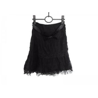 【中古】 パオラ フラーニ PAOLA FRANI スカート サイズ40 M レディース 黒