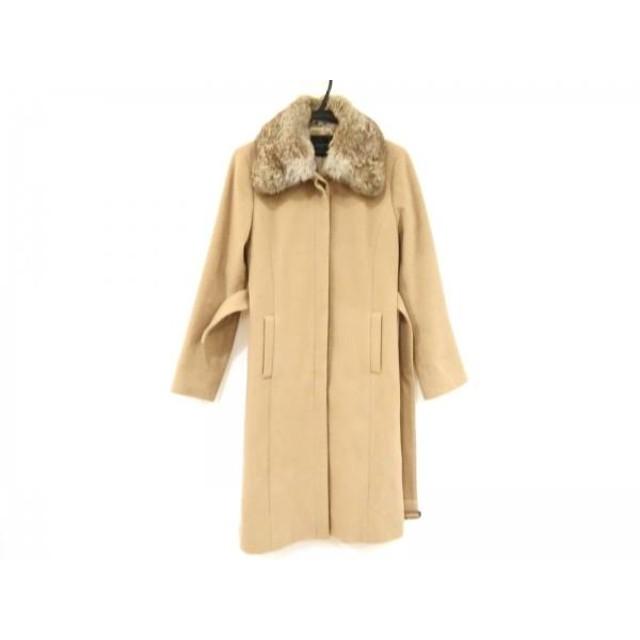 【中古】 ルスーク Le souk コート サイズ3 L レディース ブラウン ラビットファー/冬物