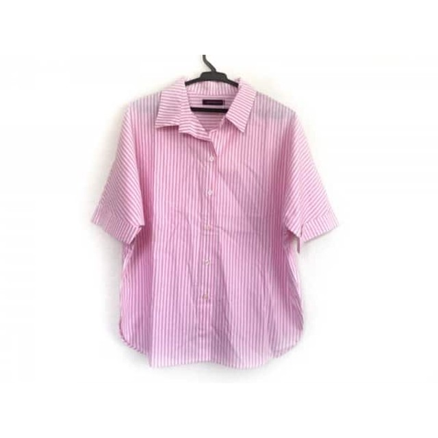 【中古】 アーバンリサーチ 半袖シャツブラウス サイズ0 XS レディース 美品 ピンク 白 ストライプ