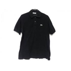 【中古】 ラコステ Lacoste 半袖ポロシャツ サイズ5 XL メンズ 黒
