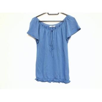 【中古】 ニジュウサンク 23区 半袖セーター サイズ36 S レディース ブルー