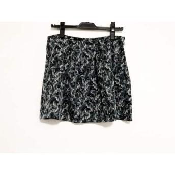 【中古】 セオリー theory ミニスカート サイズ2 S レディース 黒 ブルー マルチ