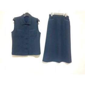 【中古】 レリアン Leilian スカートセットアップ サイズ9 M レディース ネイビー ブルー