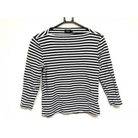 【中古】 ケイトスペードサタデー 七分袖Tシャツ サイズS レディース 黒 白 ボーダー