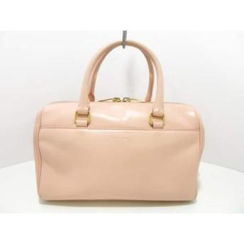 【中古】 サンローランパリ ハンドバッグ クラシックベイビーダッフル 330958 ピンク レザー