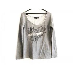 【中古】 ジルスチュアート チュニック サイズF レディース グレー ダークグレー マルチ 刺繍