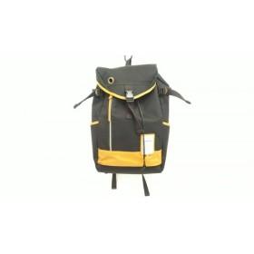 【中古】 ビアンキ Bianchi リュックサック 黒 ブラウン キャンバス 合皮