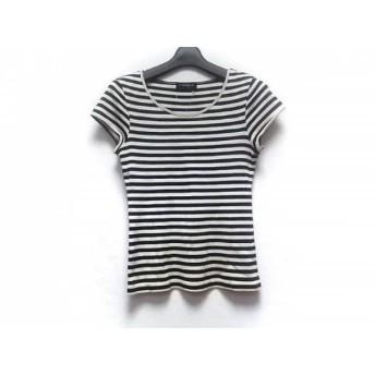 【中古】 トゥモローランド TOMORROWLAND 半袖Tシャツ サイズ38 M レディース 白 ネイビー ボーダー