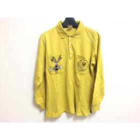 【中古】 ミエコウエサコ 長袖ポロシャツ サイズ40 M レディース イエロー ベージュ マルチ