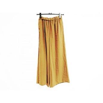 【中古】 プラージュ Plage パンツ サイズ34 S レディース ダークブラウン ワイドパンツ/ウエストゴム