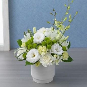 【故人を偲ぶ、お悔みの花】アレンジメント「敬慕(白)」