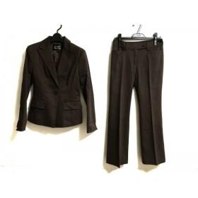 【中古】 クードシャンス レディースパンツスーツ サイズ38 M レディース ダークブラウン