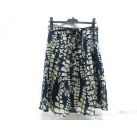 【中古】 ノーブランド スカート サイズ1 S レディース ネイビー ベージュ ピンク