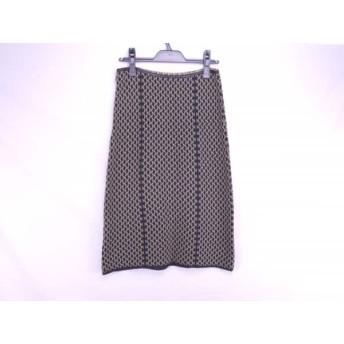 【中古】 インディビ INDIVI スカート サイズ9 M レディース 黒 ライトブラウン