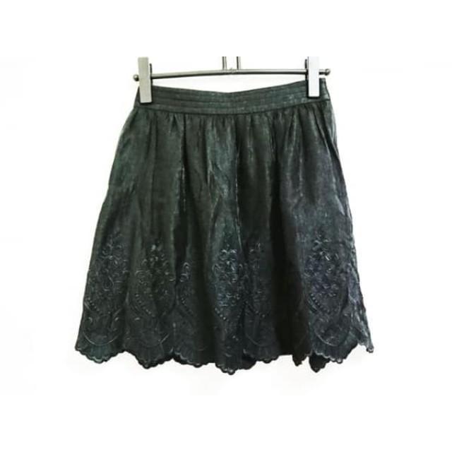 【中古】 ボディドレッシングデラックス ミニスカート サイズ36 S レディース 黒 刺繍