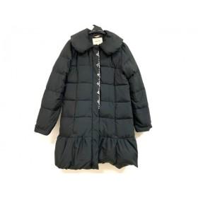 【中古】 レッセパッセ LAISSE PASSE ダウンコート サイズ36 S レディース 黒 ビジュー/冬物