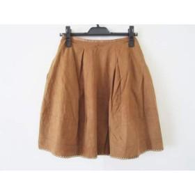 【中古】 デイジーリン DAISY LIN スカート サイズ38 M レディース ブラウン フェイクスエード/パンチング