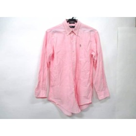 【中古】 ポロラルフローレン POLObyRalphLauren 長袖シャツブラウス サイズ20 レディース ピンク