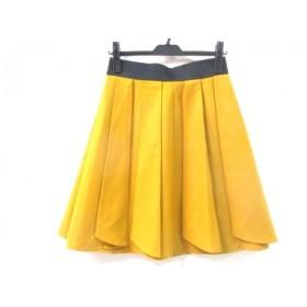 【中古】 インディビ INDIVI スカート サイズ38 M レディース イエロー 黒