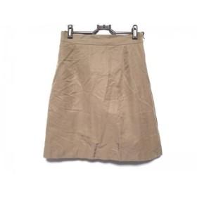 【中古】 トゥモローランド TOMORROWLAND ミニスカート サイズ38 M レディース ライトブラウン