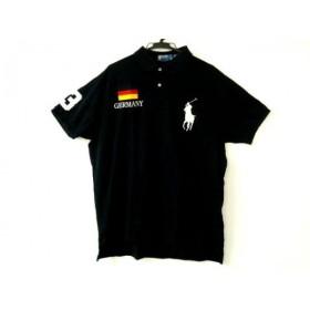 【中古】 ポロラルフローレン 半袖ポロシャツ サイズXL メンズ 黒 ビッグポニー/GERMANY