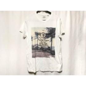 【中古】 ディーゼル DIESEL 半袖Tシャツ サイズS メンズ 白 ベージュ マルチ