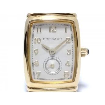 【中古】 ハミルトン HAMILTON 腕時計 6246 レディース アイボリー
