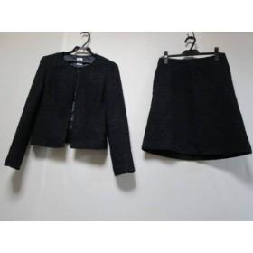 【中古】 ミッシェルクラン MICHELKLEIN スカートスーツ サイズ40 M レディース ネイビー ラメ