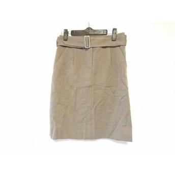 【中古】 ルイヴィトン LOUIS VUITTON スカート サイズ34 S レディース 美品 - ベージュ