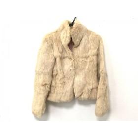 【中古】 ルスーク コート サイズ36 S レディース アイボリー 冬物/ラビットファー 毛皮(ラビット)